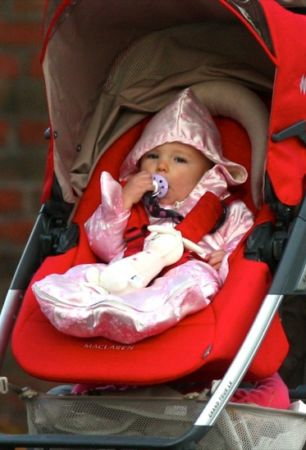 Seraphina Affleck out for a stroll in Boston